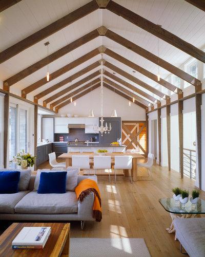 Coastal Living Room by Hutker Architects