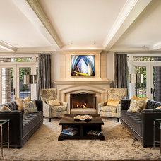 Transitional Living Room by Graytek