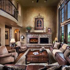 Mediterranean Living Room by Celebrity Communities