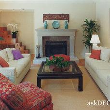 Asian Living Room by Nancy Del Santo