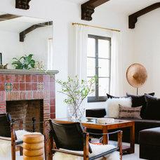 Eclectic Living Room by nicole facciuto design