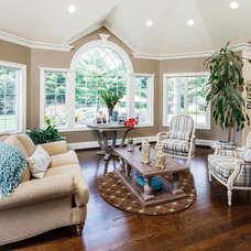 Traditional Living Room by Creative Design Construction, Inc.