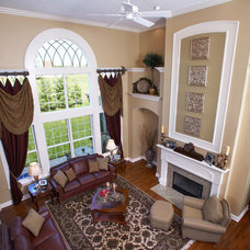 Traditional Living Room by Fine Designs & Interiors, Ltd.