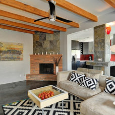 Contemporary Living Room by Sacha Blanchet Real Estate