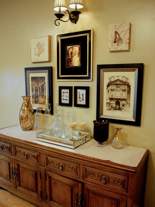 living room hutch. Example of a classic living room design in Other with beige walls Buffet And Hutch Living Room Ideas  Photos Houzz