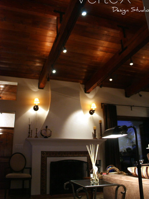 wood beam track lighting home design ideas pictures remodel and