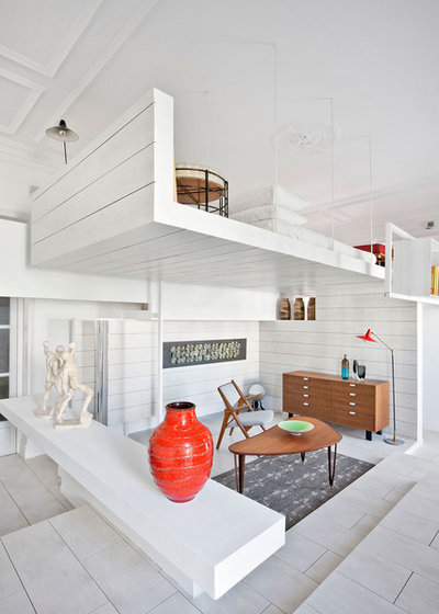 Contemporáneo Salón by HRuiz Architecture & Design Team