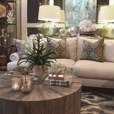 Beach Style Living Room by Cerulean Interiors LLC