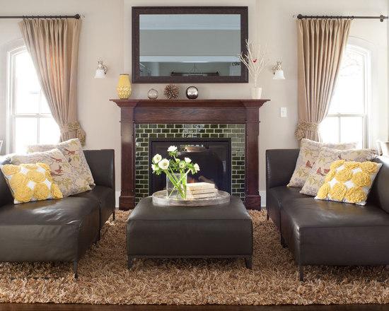 Glass Tile Fireplace Surround Houzz