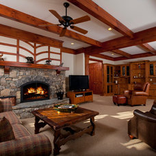 Traditional Living Room by BlueStone Construction, LLC