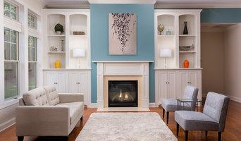 Chapel Hill Transitional Living Room