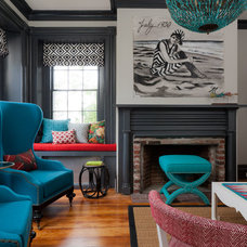 eclectic living room by Rachel Reider Interiors