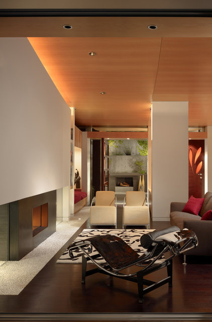 Contemporary Living Room by Charles Debbas Architecture