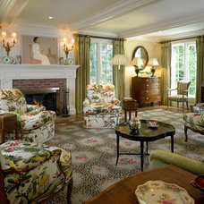 Traditional Living Room by Patrick Ahearn Architect