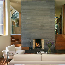Contemporary Living Room by Charles Rose Architects Inc.
