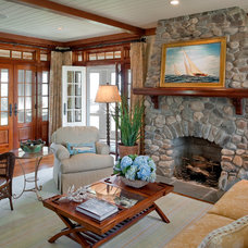 Beach Style Living Room by Dennis Moffitt Painting