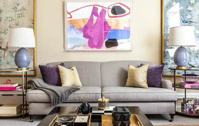 Room of the Day: An Artful Use of Bold Color