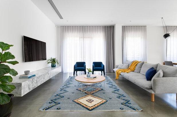 Scandinavian Living Room by Hogan's Curtains & Blinds