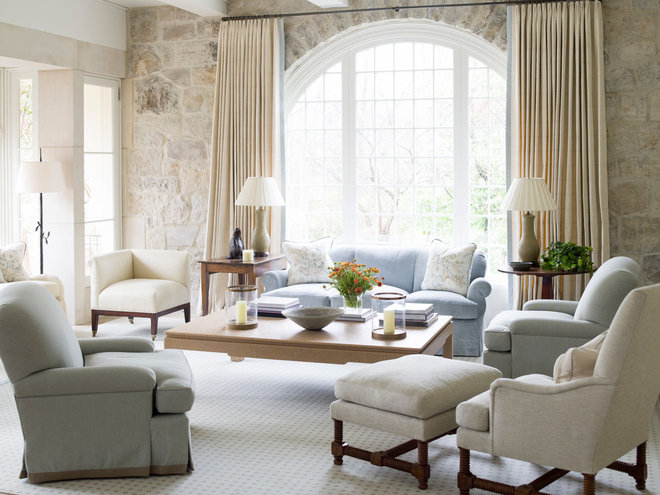 Traditional Living Room by Phoebe Howard