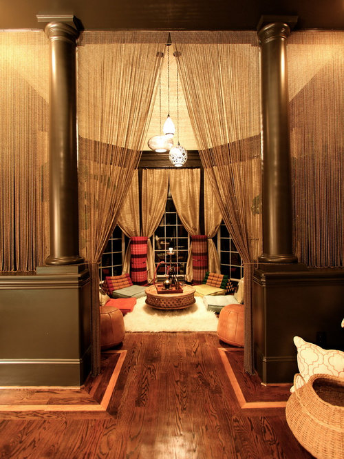 Inspiration For A Timeless Dark Wood Floor Living Room Remodel In Charlotte