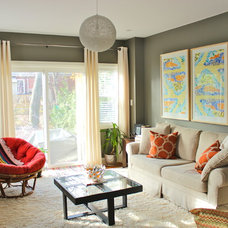 Eclectic Living Room by KMSalter Design