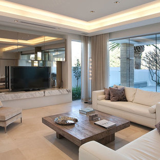 Inspiration for a beach style limestone floor living room remodel in Perth