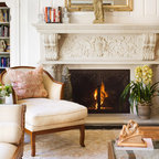 Bookcases And Fireplace Mantels Traditional Living