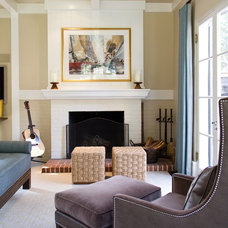 Traditional Living Room by Charmean Neithart Interiors, LLC.