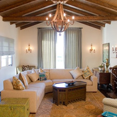 mediterranean living room by Charmean Neithart Interiors, LLC.