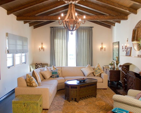 spanish-style living room | houzz