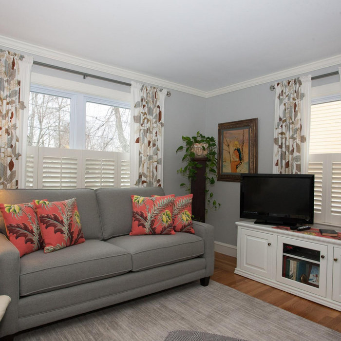 Charming Cranston Update with Shutters & Draperies