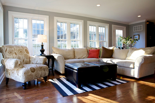 Traditional Living Room by Stilwell Design & Remodeling