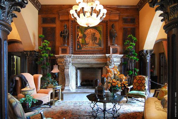 Mediterranean Living Room by MJS Inc. Custom Home Designs