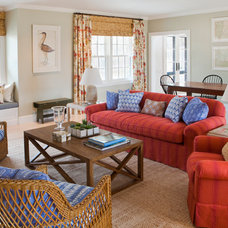 Beach Style Living Room by Laura Wilmerding Interiors