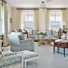 Beach Style Living Room by Kotzen Interiors, LLP