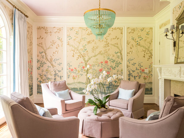 Traditional Living Room by Leah Atkins Design, LLC