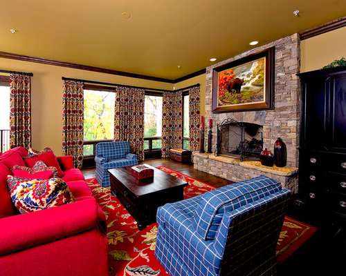 Yellow living room design ideas renovations photos with for Dark yellow living room