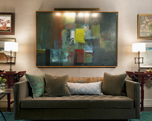 Art Behind Sofa Design Ideas amp Remodel Pictures Houzz