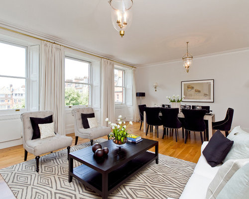 Living dining combo houzz for Dining room living room combo