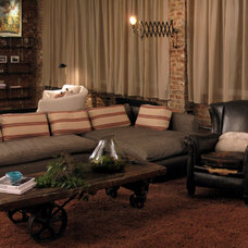 Eclectic Living Room by 8.8 Design