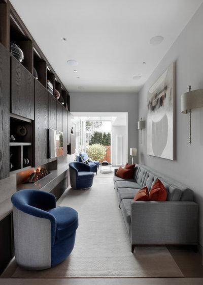 Современный Гостиная by MWAI Architecture and Interiors