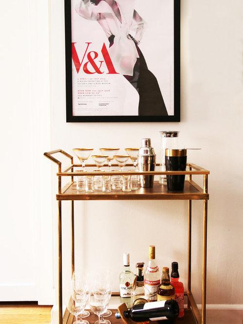 Retro vintage hausbar einrichten ideen design houzz - Hausbar ideen ...