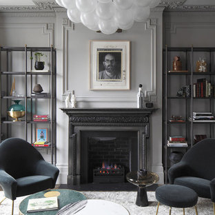 Design ideas for a classic living room in London.
