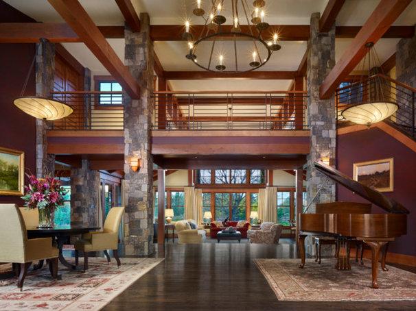 Traditional Living Room by Ekman Design Studio