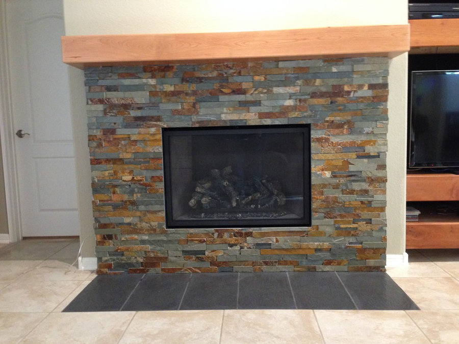 Cherry mantel with rounded edges