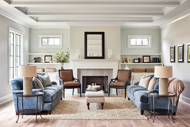 New this week 5 great transitional style living rooms for Transitional living room decor