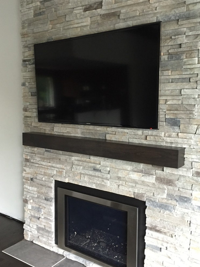 Cherry wood fireplace mantels