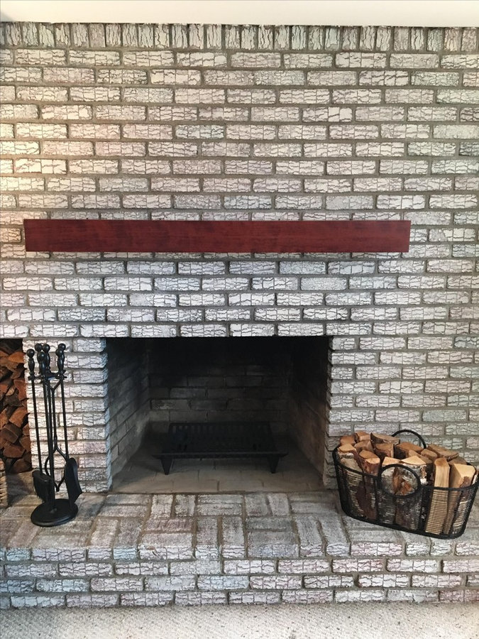Cherry wood mantel