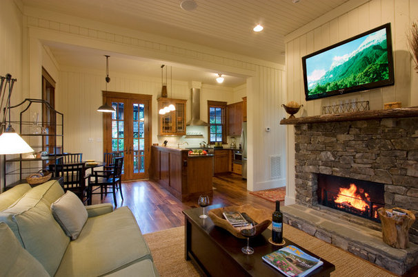 Traditional Living Room by Daryl S. Rantis Architect
