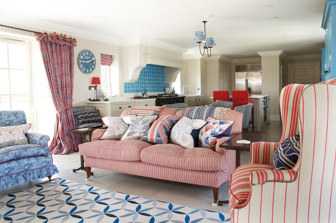 Traditional Living Room by Fiona Watkins Design Limited